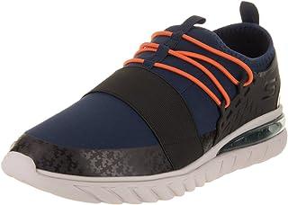 Skechers Men's Skech - Air Conflux Navy/Orange Casual Shoe 11.5 Men US