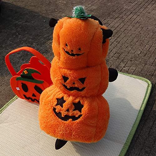 DJFIREGMNIJ Ropa para Mascotas Lindo Perro Gato Otoño E Invierno Calabaza Tridimensional Vestido De Halloween
