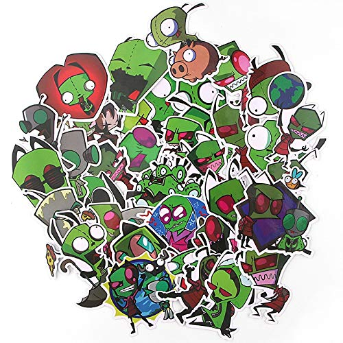 Alien Graffiti Sticker Cartoon Sticker Gift Toy Kids Diy Skateboard Laptop Phone 35Pcs