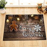 クリスマス木の板ジンジャーブレッドマンペンダント家の装飾ドアフロントマットバスルームマット滑り止めイージークリーン40*60cmファミリーエッセンシャル