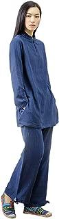 KSUA Womens Chinese Kung Fu Clothing Tai Chi Suit Cotton Yoga Suit for Zen Meditation Martial Arts
