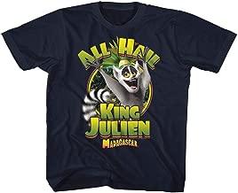 Madagascar Children's Movie King Julien Navy Toddler Little Boys T-Shirt Tee