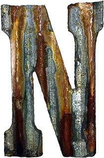 Custom Cut Decor 8'' Rusty Galvanized Corrugated Metal Letter -N
