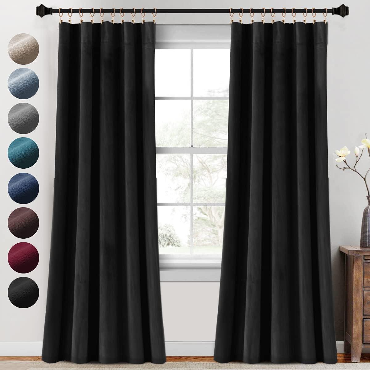 Brand Cheap Sale Venue Luxury Japan Maker New Velvet Curtains Blackout for Living 2 Panels Inch 95 Room