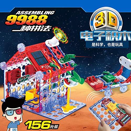 Electrics kid 9988 Baipin 6688 bloques de construcción electrónicos educación infantil temprana montaje de rompecabezas circuito físico juguete regalo