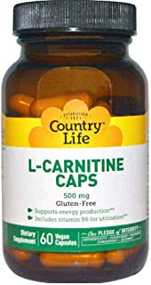 Country Life L-Carnitine 500 mg Vegan Capsules 60's