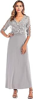 Best 3/4 sleeve evening dresses Reviews