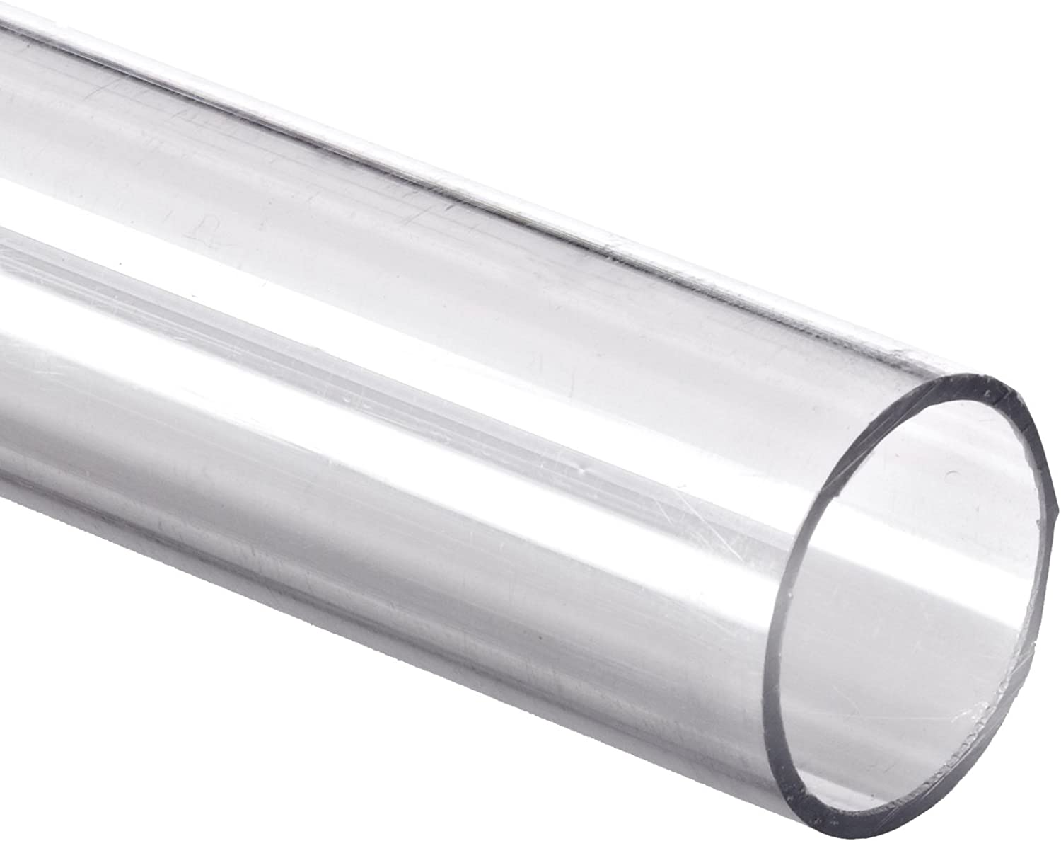 Polycarbonate Tubing 1 7//8 ID x 2 OD x 1//16 Wall Clear Color 48 L