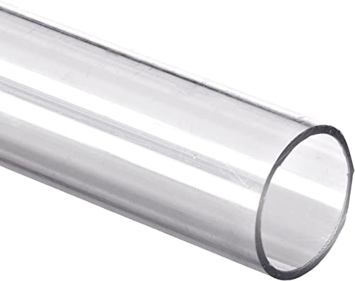 """Polycarbonate Tubing, 1 7/8"""" ID x 2"""" OD x 1/16"""" Wall, Clear Color 24"""" L"""