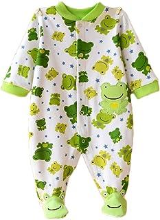 Feidoog Baby Footed Cotton Long Sleeve Romper Animal Printed Jumpsuit Sleeper Sleep and Play