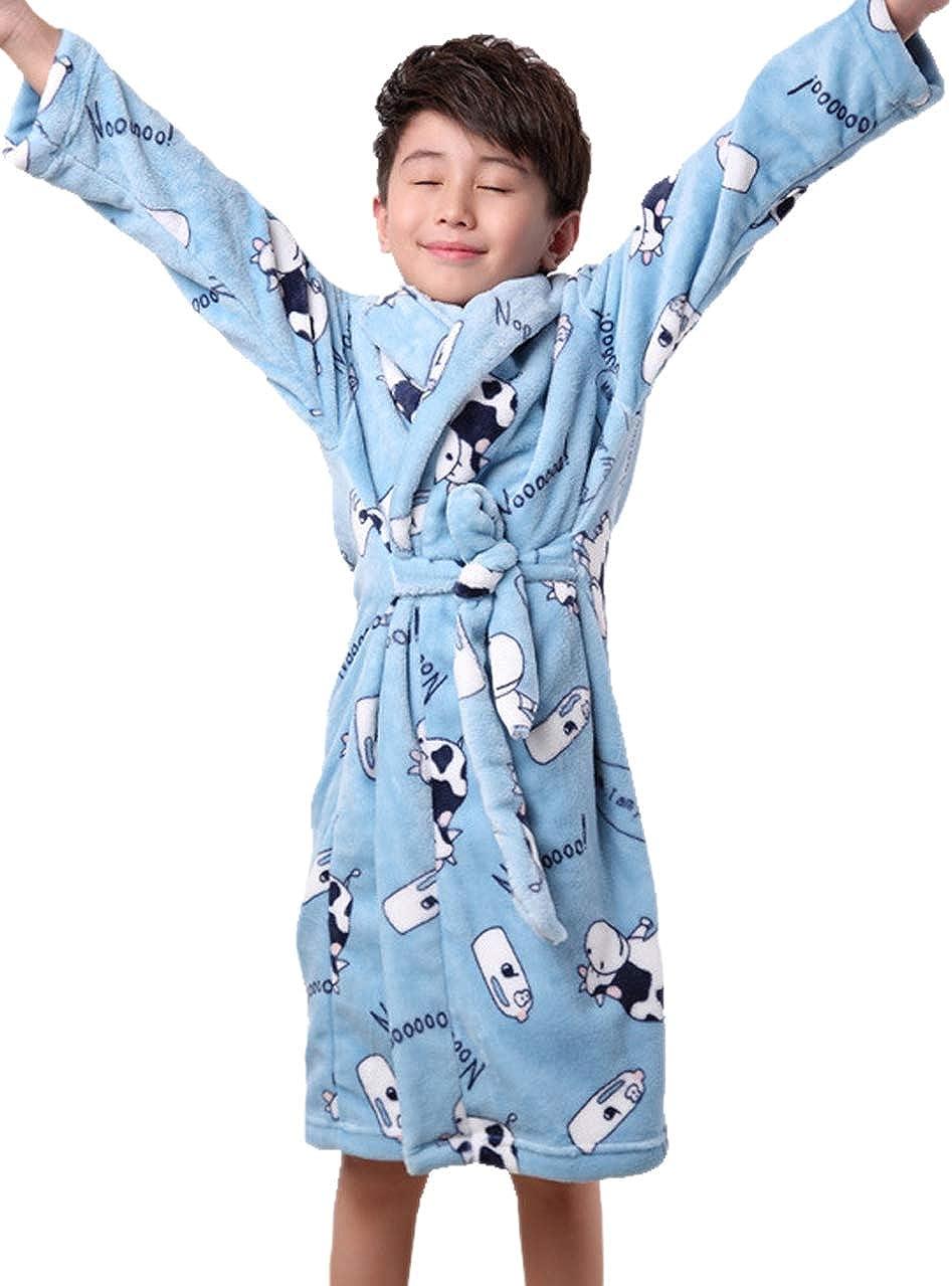XINNE Unisex Kleinkinder Kinder Kapuzen Bademantel Jungen M/ädchen Morgenmantel Cartoon Tier Pyjamas Flanell-Nachtw/äsche