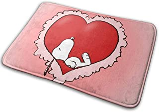 MOANDJI Indoor Outdoor Door Mat Snoopy Love Shoes Scraper Rug for Entry & Balcony and High Traffic Areas 16 X 24 Inch
