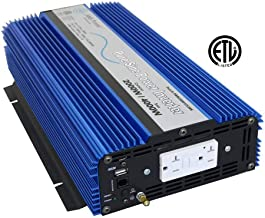 AIMS Power Pure Sine Power Inverter, 2000W Continuous Power, 4000W Surge, USB Port, Optional Remote, ETL Listed, 2 Year Warranty,PWRI200012120S