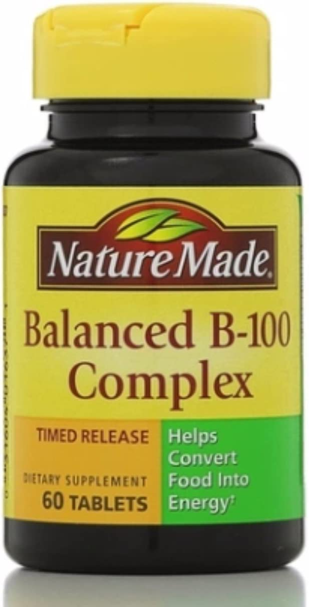 Nature Made Balanced free Vitamin B-100 Complex 60 Pack Tablets Popular shop is the lowest price challenge ea