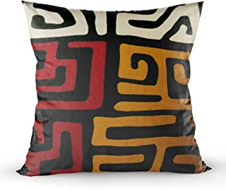EMMTEEY Home Decor Throw Pillowcase for Sofa Cushion Cover,Christmas afrocentric mudcloth Fabric Decorative Square Accent Zippered and Double Sided Printing Pillow Case Covers 16X16Inch