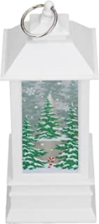 Gind Lumière de Noël, Lanterne de Noël portative à lumière Chaude LED sûre pour la décoration de Festival pour la Table po...