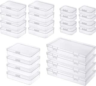 24 sztuki mieszanych rozmiarów prostokątne puste mini pudełko do przechowywania małych przedmiotów i innych projektów ręko...