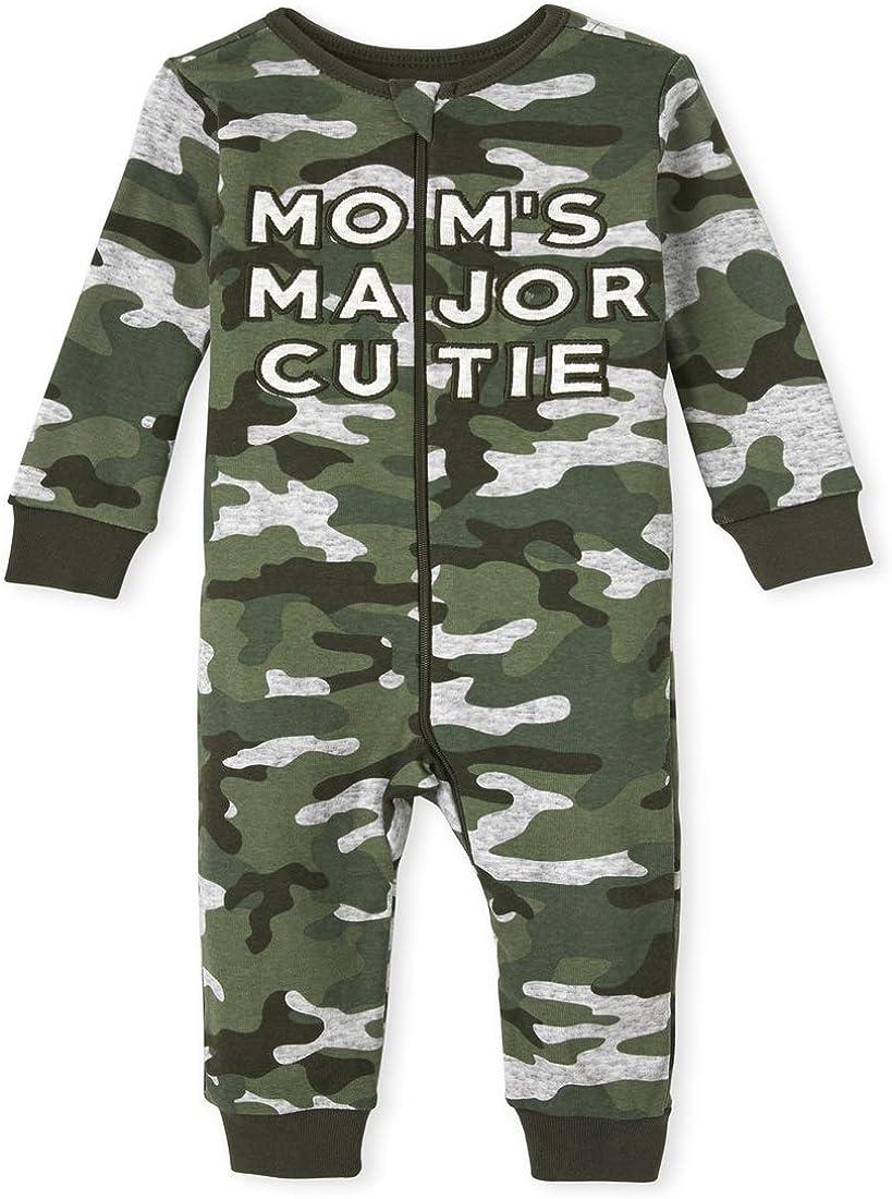 The Children's Place Boys' Camo Mom Stretchie Pajamas