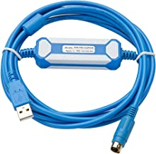 AMSAMOTION GoldPlatedInterface USB-FBS-232P0-9F Suitable Fatek FBS FB1Z B1 Series PLC Programming Cable USB Version to RS232 Adapter