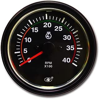 MOTOR METER RACING Universal Tachometer for Alternator 3-3/8