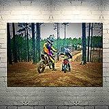 AQgyuh Puzzle 1000 Piezas Motocross Motocross Motocicleta SaltarAmorArteImagen en Juguetes y Juegos Gran Ocio vacacional, Juegos interactivos familiares50x75cm(20x30inch)