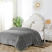Sponsored Ad – Bourina Flannel blanket throw Lightweight Cozy Plush Microfiber Solid fleece Blanket,Queen size 90*90 Inch,...