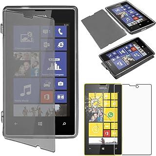 ebestStar - kompatibel med Nokia Lumia 520 skal [mjuk silikon] plånboksskydd, stötdämpning fullt flexibelt skydd, svart + ...