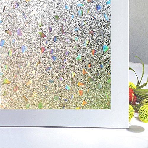 Bloss 3d No Glue Static Cling Window Film Decorative Frosted Privacy Window Films 17.7 Inch by 78.7 Inch