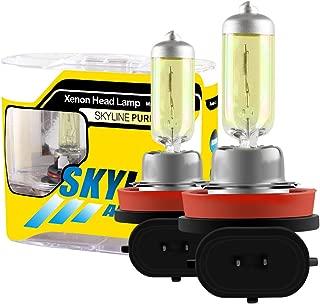 2pcs Super Bright Glod Yellow H11 55W 3000k Car Headlight Lamp Halogen Xenon Light Bulb Replacement 12V