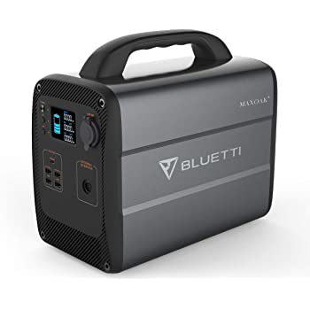 MAXOAK Lithium Portable Power Station BLUETTI AC100 1000Wh 600W AC110V Emergency Battery Backup Pure Sinewave 2AC Outlet Power Storage Multi-use Solar Generator for Outdoor RV Van Camping Adventure