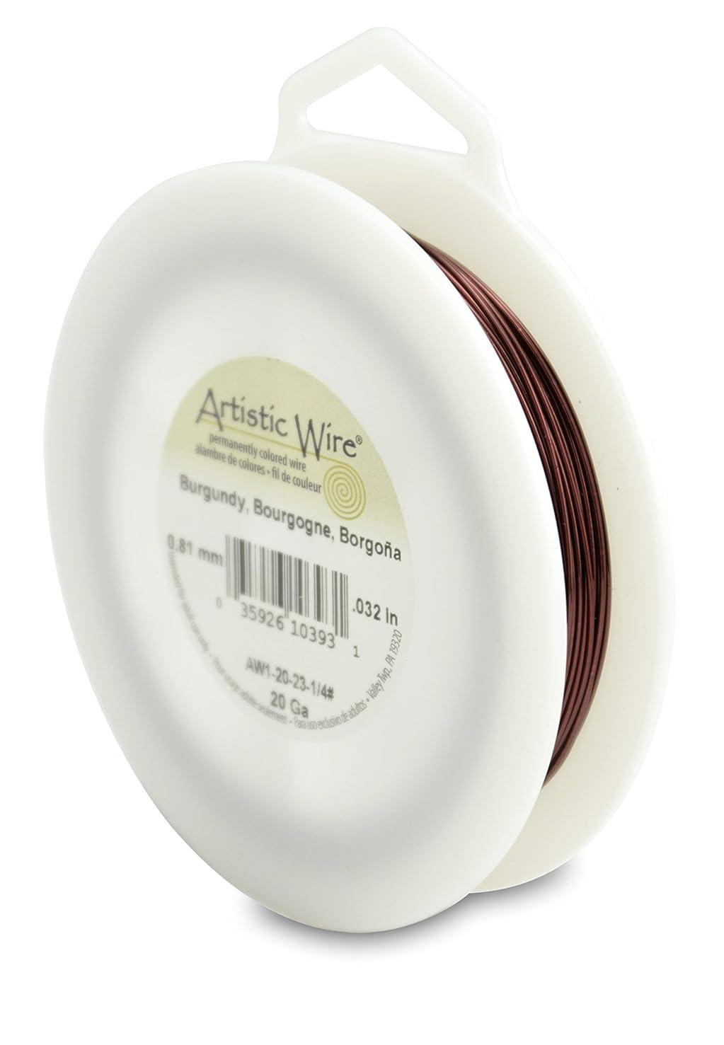 Artistic Wire 20-Gauge Burgundy Wire, 1/4-Pound