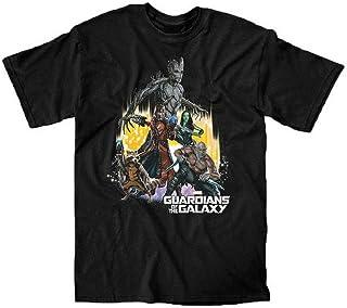 Marvel Guardians of The Galaxy Team Camiseta Negra Para Hombre