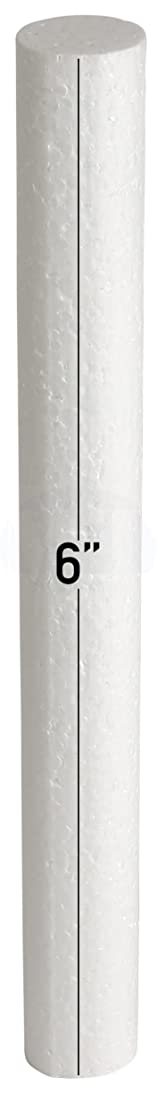 White EPS Hard Foam Rod/Cylinder Craft 1 in Diameter by MT Products (15 Pieces) (6 inch)