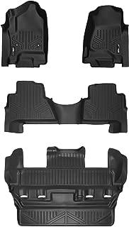 MAXLINER Floor Mats 2 Row Liner Set Black for 2015-2018 Cadillac Escalade ESV