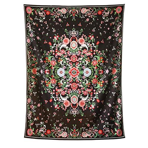 DMTWSM-Elegant Floral Plant Tapestry Mandala Wall Hanging Hippie Art Wall Carpet Boho Decor Home Background Deken Sprei Yoga Mat-70 * 90cm (27 * 35inch)