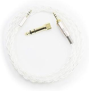 Cable de Audio de Repuesto Compatible con Auriculares inalámbricos Bowers & Wilkins PX con cancelación de Ruido Activa, Cable Chapado en Plata de 2 Metros