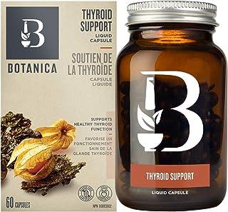 Botanica Thyroid Support Liquid Capsules - Whole Herb Formula, Non-GMO, Vegan and Gluten Free, 60 Capsules (30 Servings)