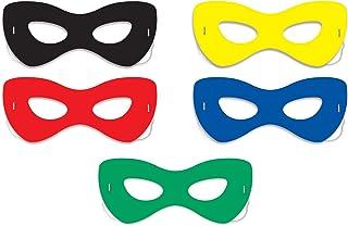 Beistle 60040 Hero Half Masks, Multicolor