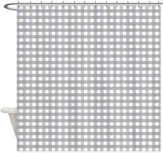 Cloud Dream Home Grey Buffalo Check Plaid Shower Curtain,Waterproof Polyester Fabric Bath Curtain Design,72x72-Inch