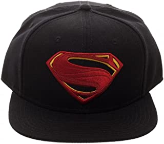 DC Comics Justice League Movie Superman Icon Embroidered Snapback Black