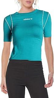 adidas Originals Women's Slim T-Shirt Blast Emerald XXS