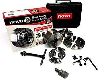Nova TK-48246 Direct Thread 1 Inch X 8TPI G3 Wood Turning Chuck Bundle Set