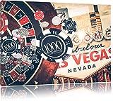 Las Vegas Casino Roulette, Format: 120x80 auf Leinwand, XXL