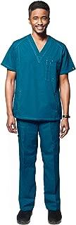 Dress A Med Mens Multi Pocket Utility Scrubs 2 Piece Set