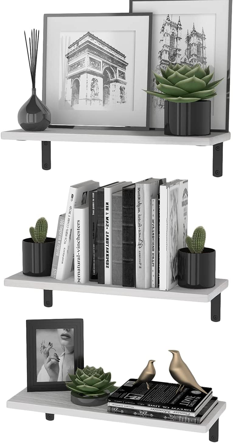 Wallniture Palma White Floating Wall Shelves for Books Max 60% OFF Recommended
