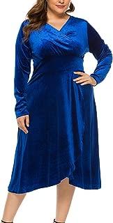 Eternatastic Womens Deep V Neck Short Sleeve Floral Print Maxi Long Dress Belts Navy