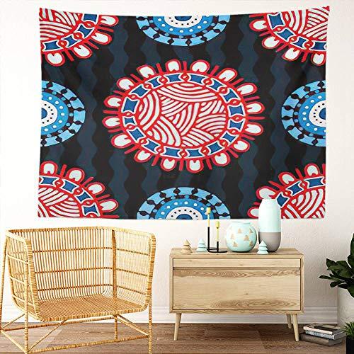Y·JIANG Tapiz hippie, diseño étnico, mandala, turco, indio, persa, hogar, dormitorio, tapiz grande, para colgar en la pared, para sala de estar, dormitorio, 152,4 x 127 cm