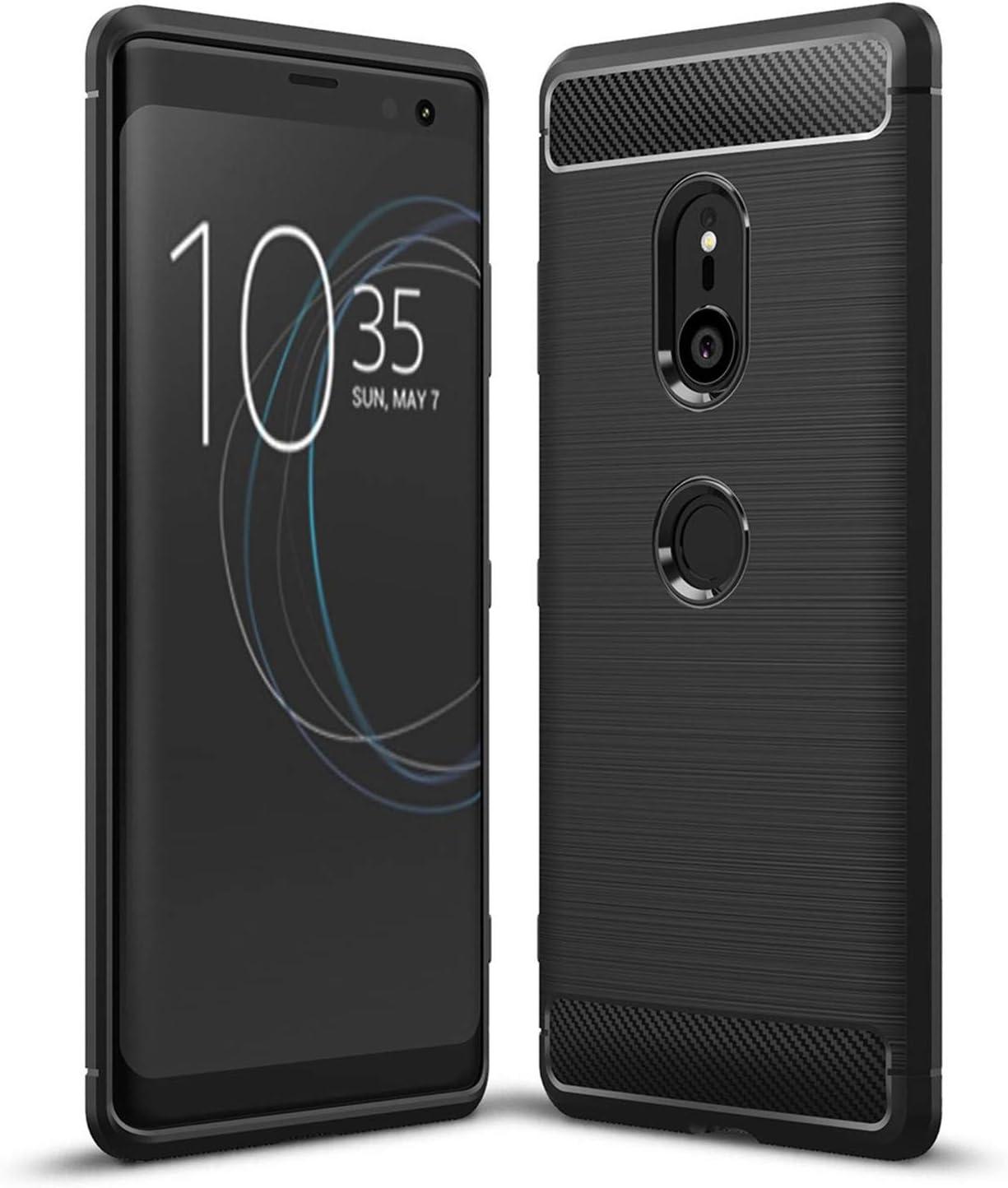LXHGrowH Funda Sony Xperia XZ3, Anti-Arañazos Suave Silicona Fundas para Sony Xperia XZ3, Shock-Absorción Protector TPU Carcasa Cover para Sony Xperia XZ3, Color Negro