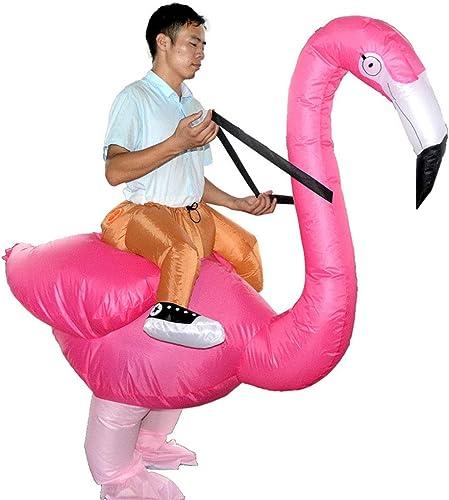 Edelehu Costume De Perforhommece Flamingo Robe De Cosplay Gonflable HalFaibleeen Costume Gonflable Wild Convenant à des Fêtes De Clubs d'anniversaire Taille Adulte D'inflation Rapide