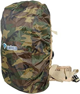 BlueField Backpack Bag Rain Cover for Outdoor Hiking Travel Water Resistant (Size: S/M/L) (Color Black/Blue/Gray)